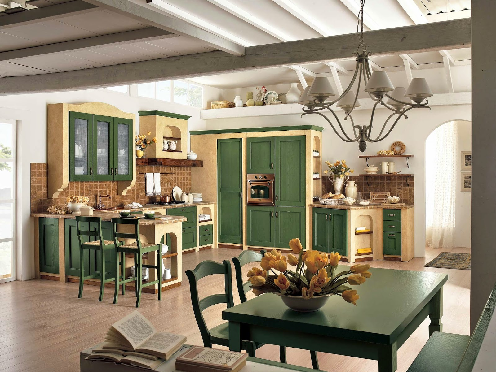 vovell.com | arredare con pannelli decorativi - Mattonelle 10x10 Cucina In Muratura