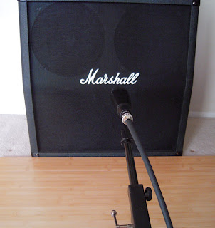 Single Mic On Marshall Cabinet image from Bobby Owsinski's Big Picture blog