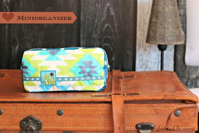 Miniorganizer aus Wachstuch - Taschenspieler Sew Along Farbenmix Frühstück bei Emma