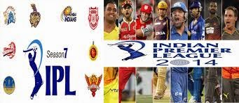 Indian Premier League Season 7 - IPL T20, 2014 Live Streaming Cricket Matches Fixtures,Schedule Calender & Time Table