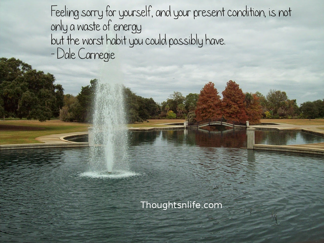Thoughtsnlife.com: Feeling sorry for yourself, and your present condition, is not only a waste of energy but the worst habit you could possibly have. - Dale Carnegie