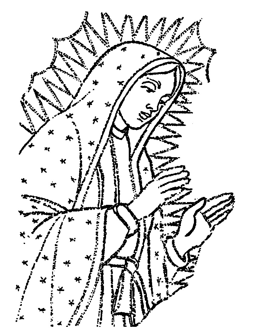 Free coloring pages of corazon de jesus for Virgen de guadalupe coloring pages