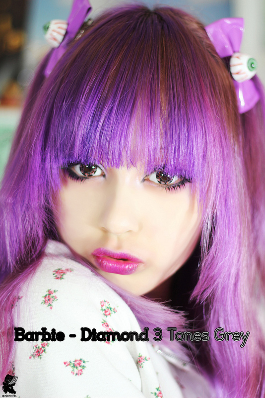 Big Eyes Lenses - Barbie Diamond 3 Tones Grey