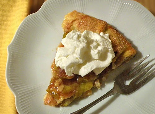 slice of galette with whipped cram