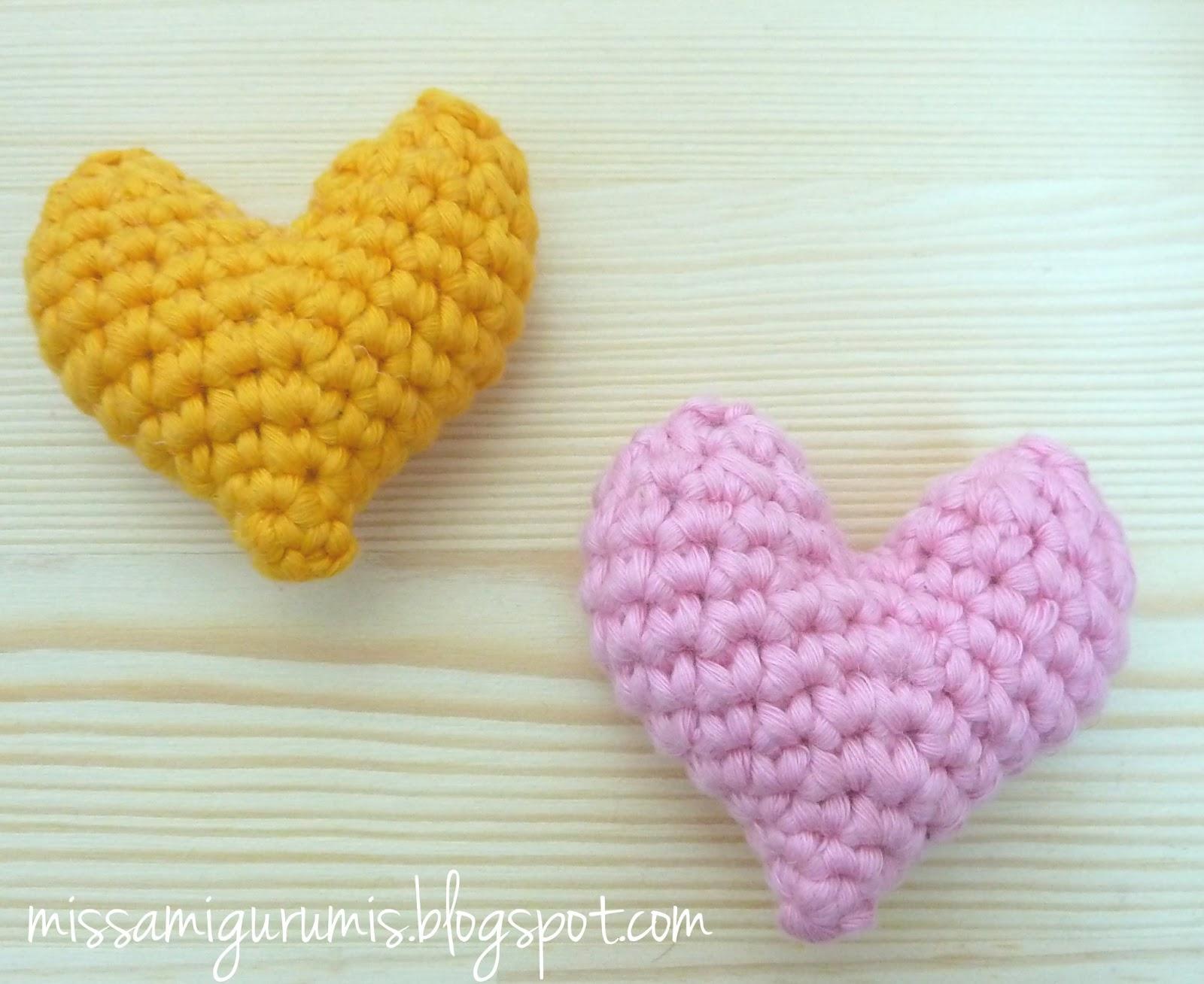 Amigurumi Corazon : Miss Amigurumis: Tutorial: Como tejer un corazon amigurumi