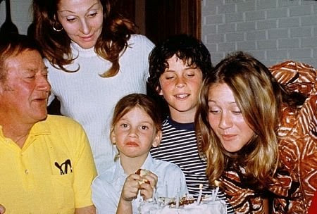 Wayne family John, Pilar, Marisa,, Ethan, and birthday girl Aissa (turning 16) in 1972.