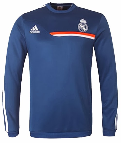Sweater Traning Bola Grade Ori Real Madrid Blue Official 2014