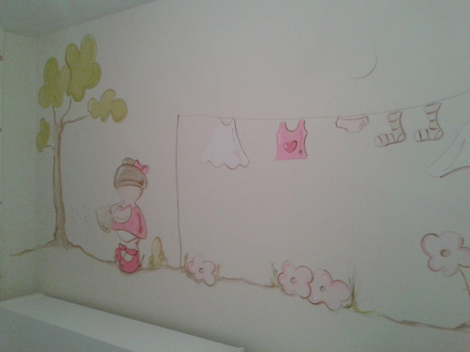 Des murs enchant s peinture murale desmursenchantes pourdecorer les murs de la chambre et for Peinture murale chambre