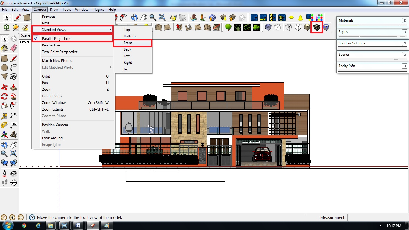 Sketchup Front Elevation : Architectural elevation sketchup rendering tutorial