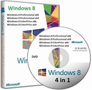 Windows 8 Professional+Enterprise 32/64 Bit+Keys