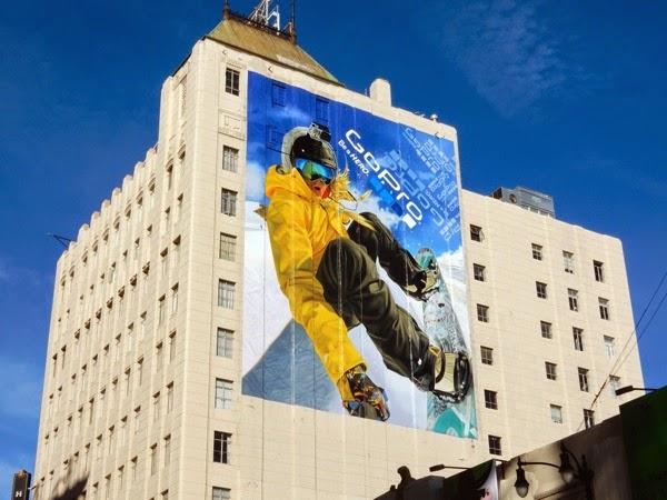 Giant GoPro snowboarding billboard 2015