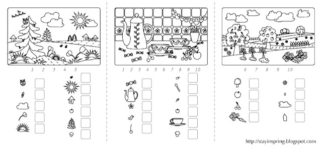 Learning Numbers activity pages