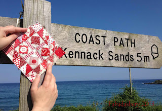 Cornish Coastal Path, Coverack - Nearly Insane Quilt