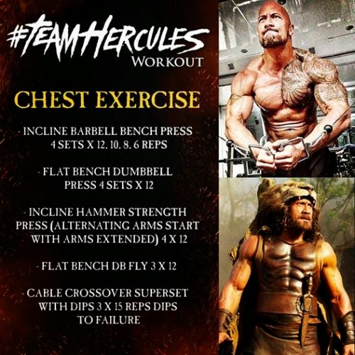 Dwayne Johnson Hercules Chest Workout routine