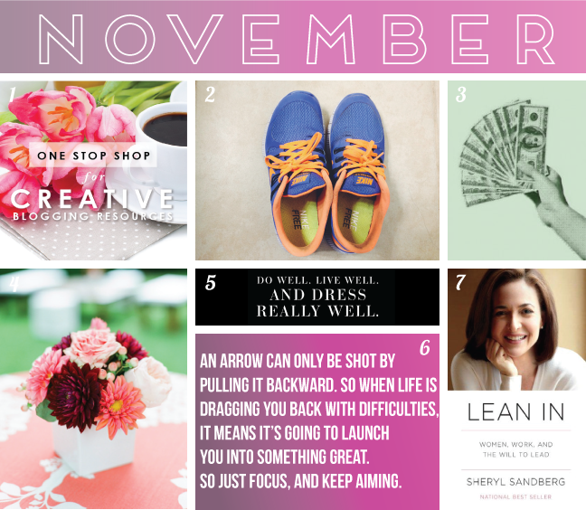 vision board, blogging, nike free run 5, money, sheryl sandberg lean in
