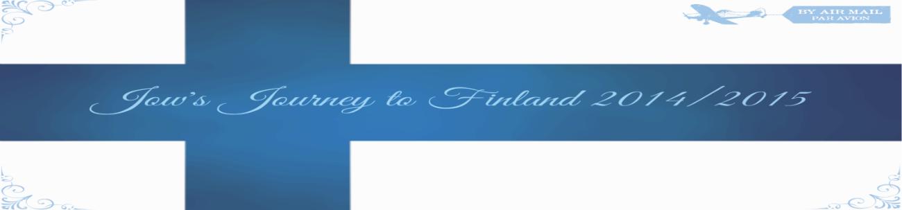 Jow's Journey to Finland 2014/2015