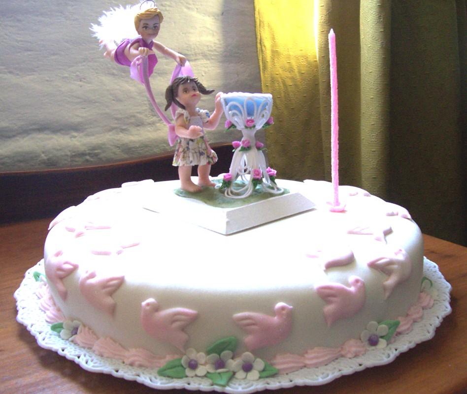 Tortas souvenirs para todas tus fiestas: Bautismo nena