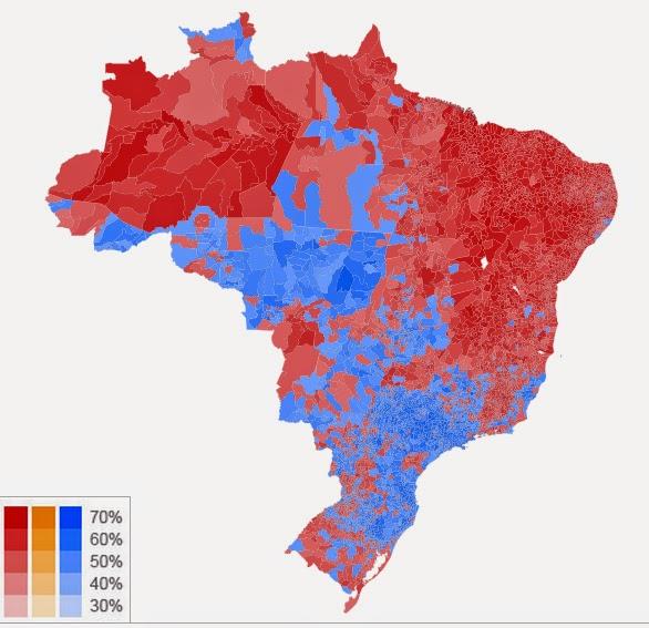 Mapa das Eleições 2014 - Um Asno
