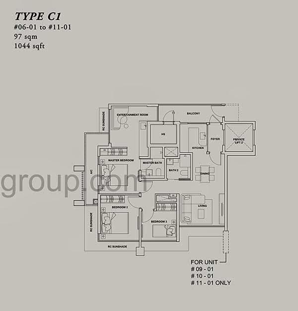 Onze @ Tanjong Pagar 3+1 Floor Plan