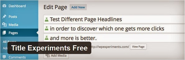 Title Experiments plugin for WordPress