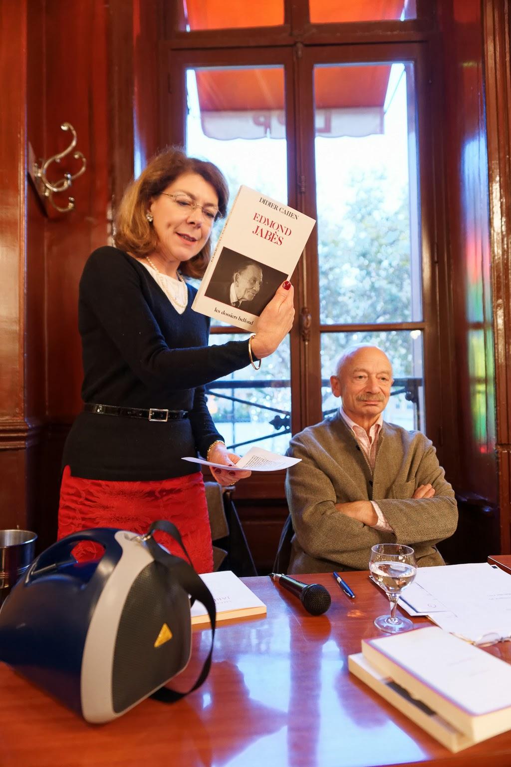 Béatrice Marchale, Présidente du Cercle, Didier Cahen Photographie © Muriel Bergasa