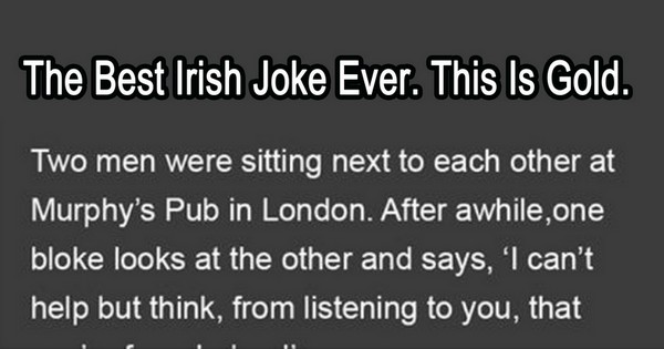 The Best Irish Joke Ever. The Murphy Twins.