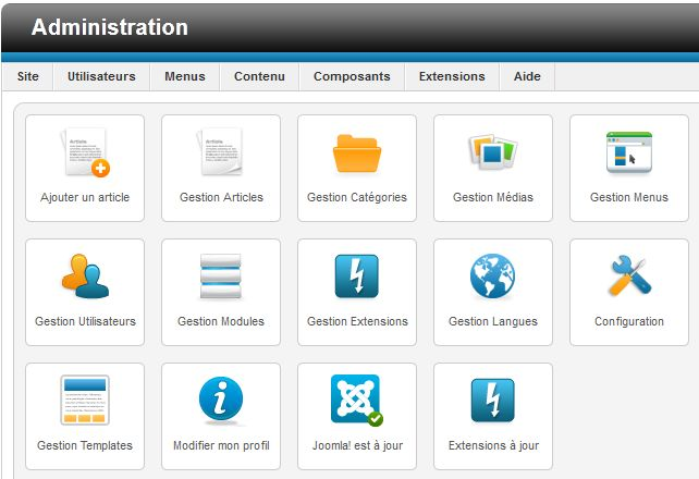 Sites joomla premiers pas avec le back office de joomla 2 5 - Back office site internet ...