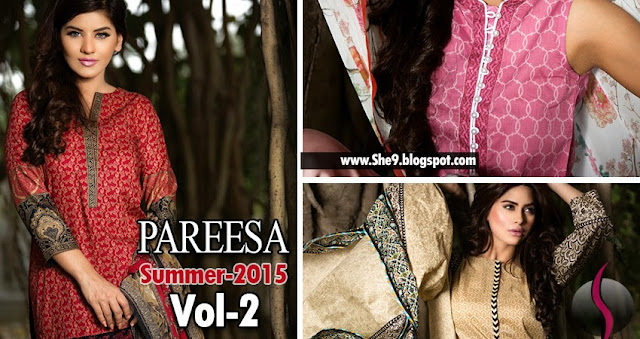 Pareesa Lawn Catalog 2015 Vol-2