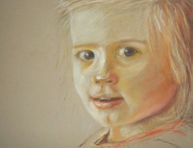 Pastel portrait baby girl