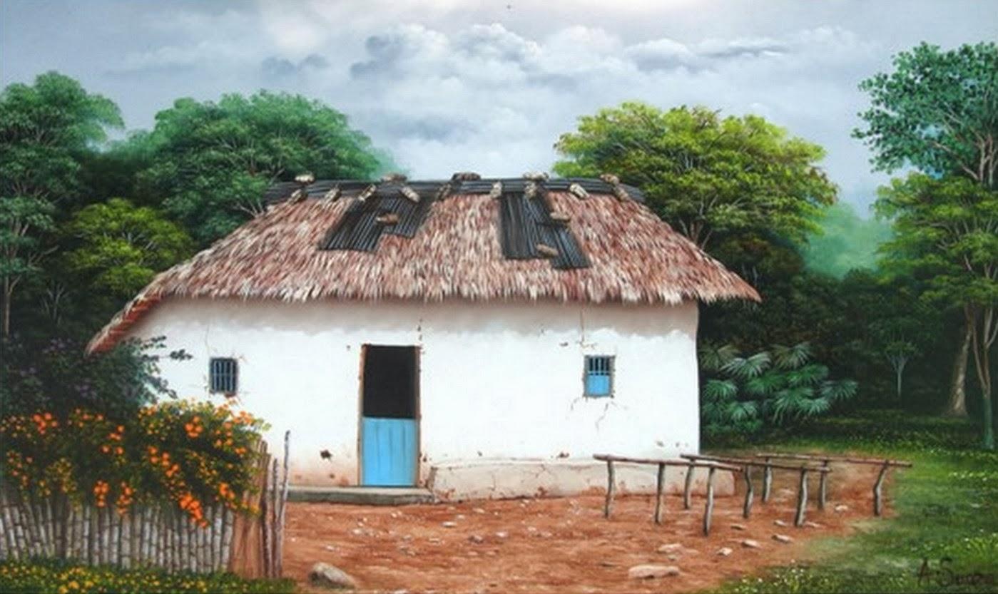 Cuadros modernos pinturas y dibujos galeria cuadros de - Casas viejas al oleo ...