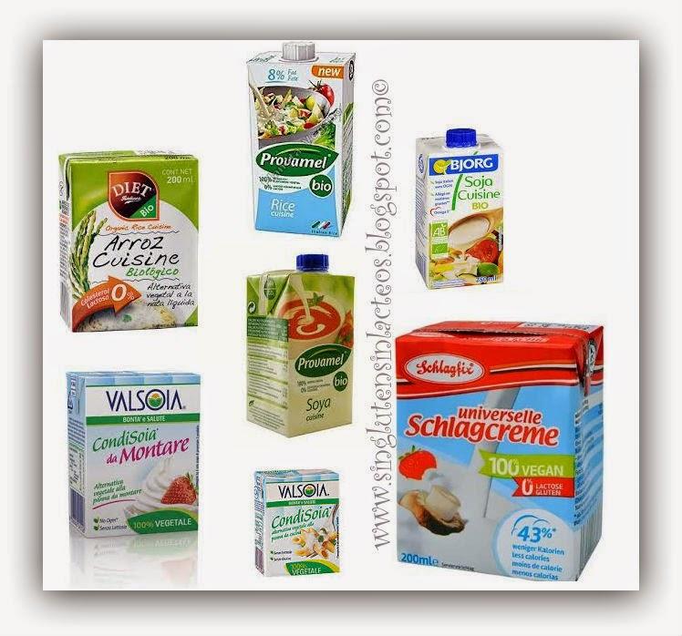 Sin gluten sin l cteos natas 100 vegetales para - Nata para cocinar mercadona ...