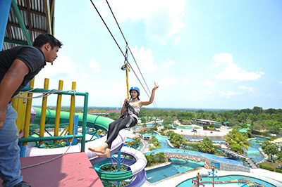 Wisata Riau Fantasi Labersa Theme Park Labersa Water Park Pekanbaru