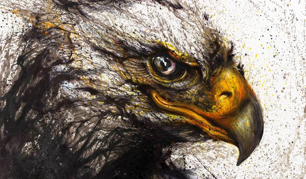 06-Eagle-2-Hua-Tunan-huatunan-Melting-&-Running-Ink-Drawings-www-designstack-co