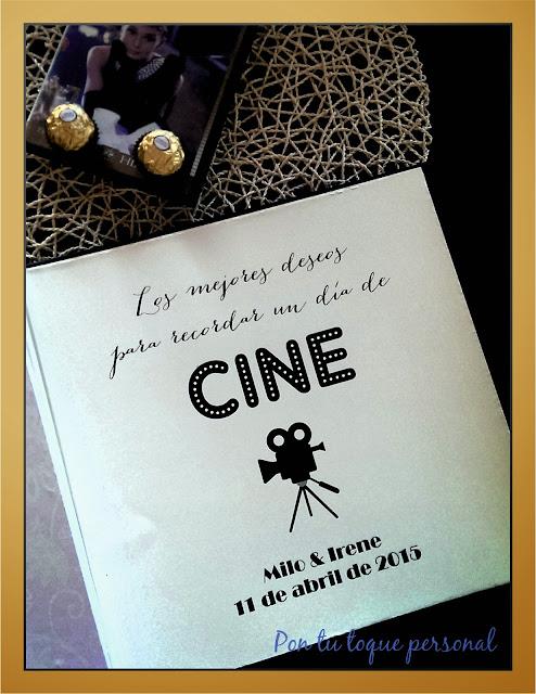 libro firmas de boda cine película personalizado negro