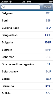iOS UISearchBar with UITableView example