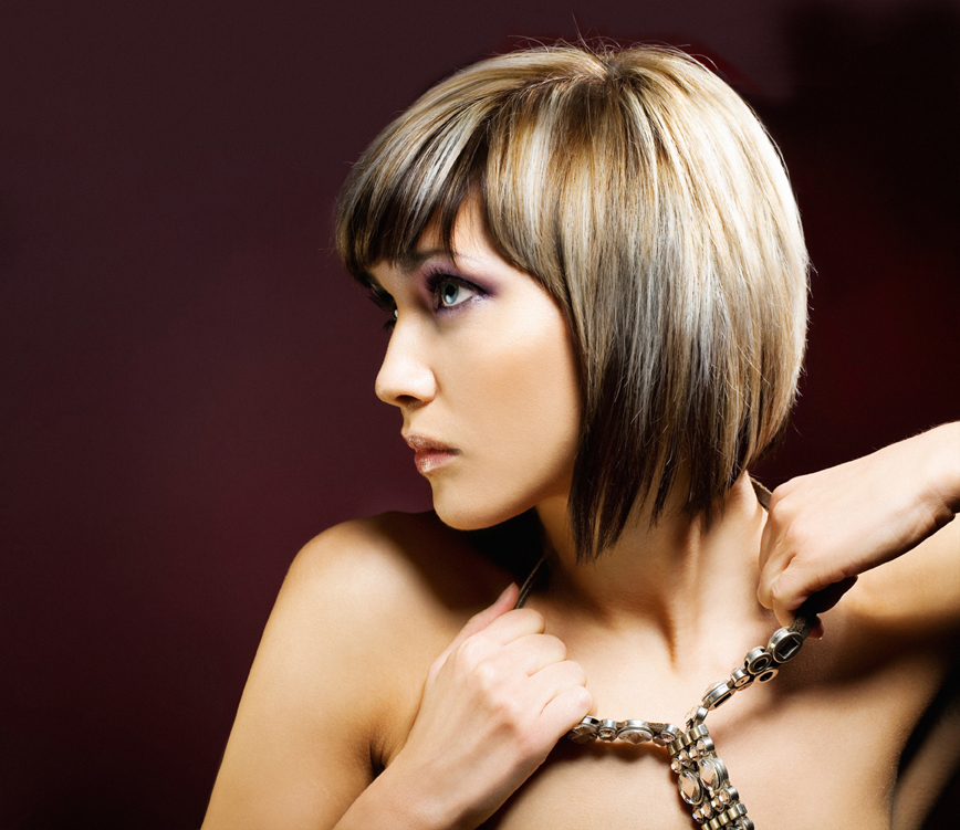 how to cut a blunt angled bob