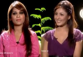 Actress Madhu Shalini in Kathi Karthika Show