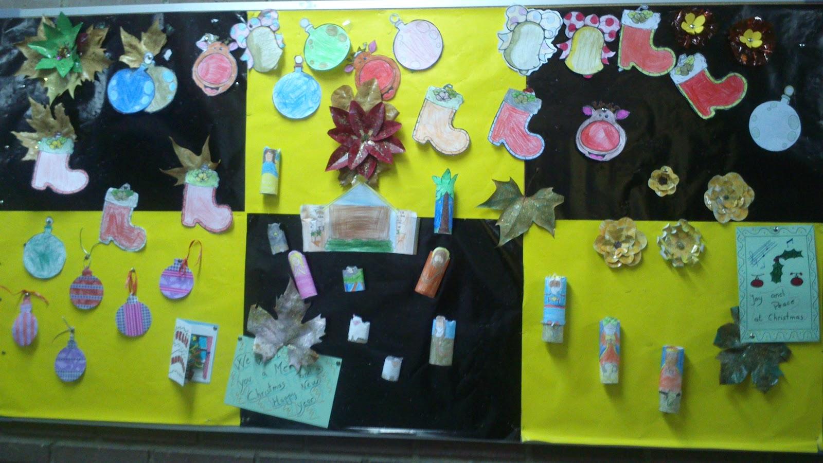 Cosas de nuestra clase nuestro mural navide o for Mural navideno