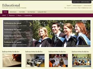 university website templates