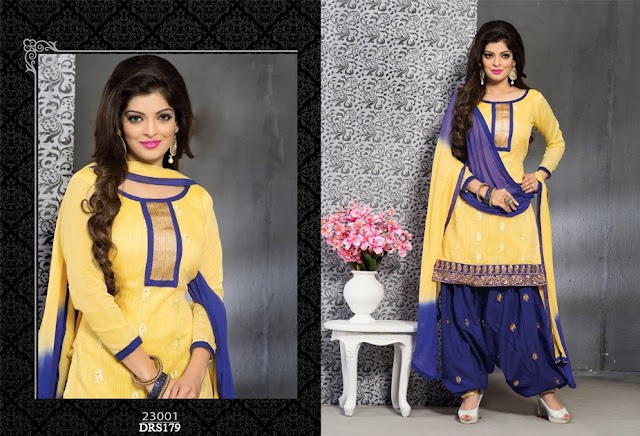 Supplier For Punjabi Chanderi Cotton Dress Material