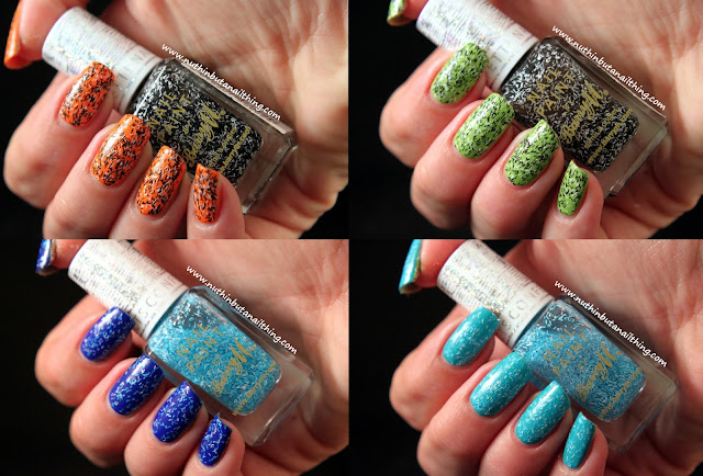 Barry M Confetti Effects Swatches - Liquorice & Bubblegum