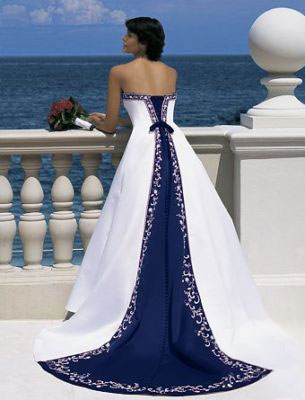 white and blue of my bridal gown wedding dress collection