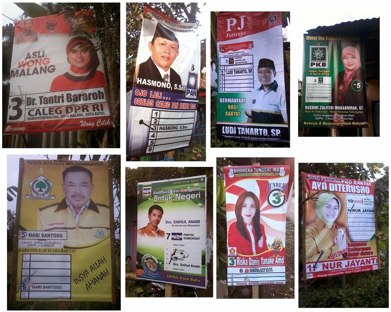 Poster Calon DPRD Kota Batu 2014