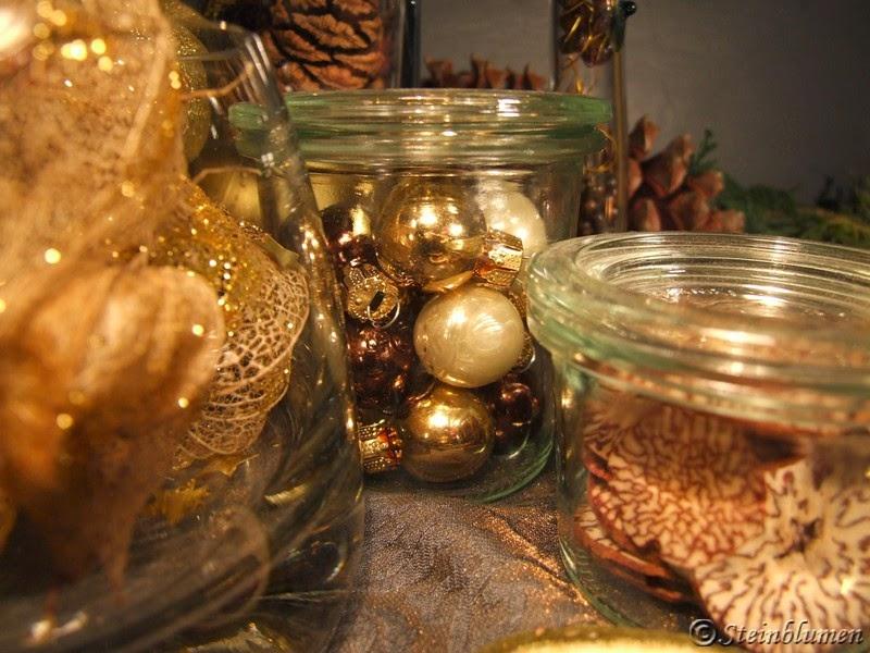 weihnachtskugeln einmachglas