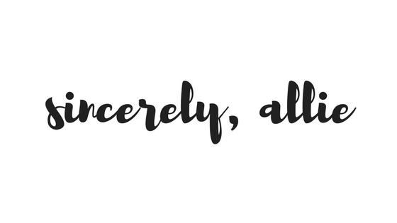 Sincerely, Allie