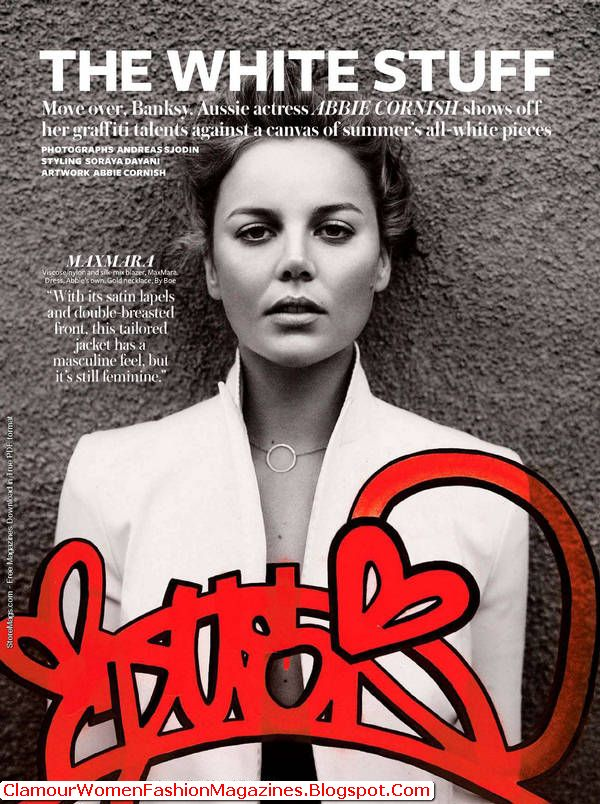 Abbie Cornish Printed On The Pages Plus Front Cover Of The Magazine