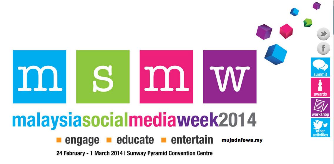 malaysia social media week 2014, msmw, undi mujadafewa