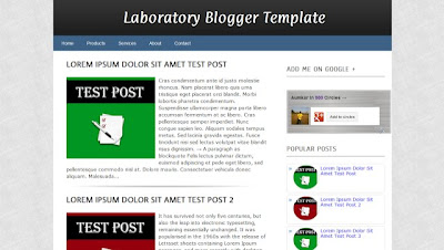 Laboratory Blogger Template