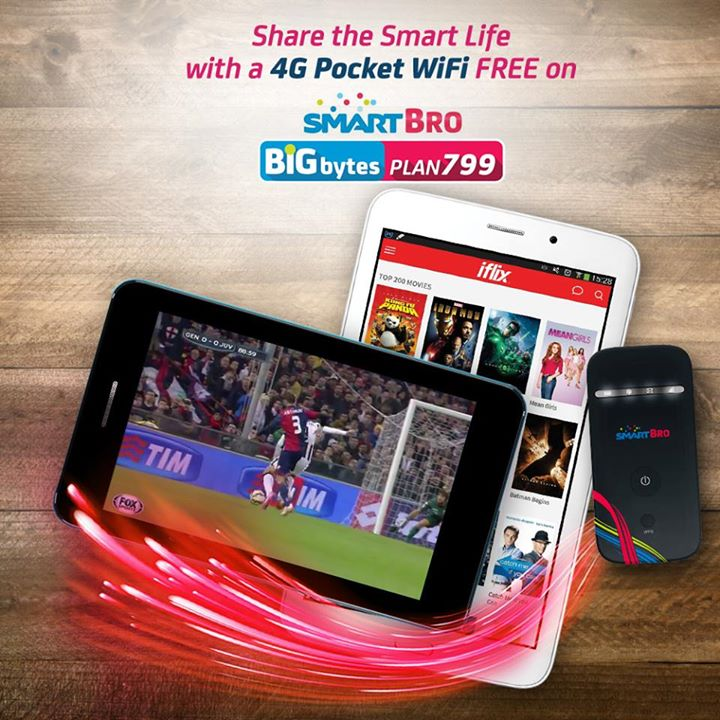 Smart Bro 4G Pocket WiFi FREE at Big Bytes Plan 799