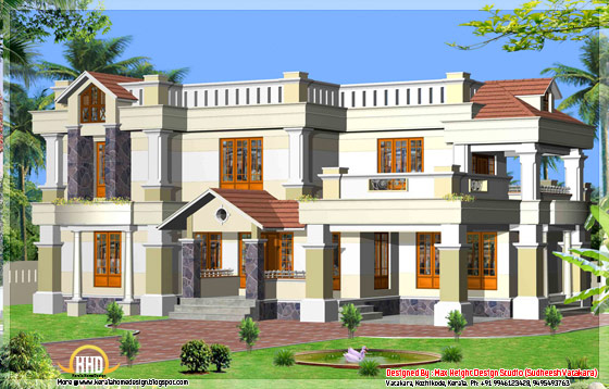 Beautiful Kerala style house elevation